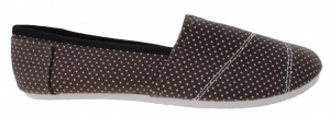 TopTen espadrilles girls brown with dots