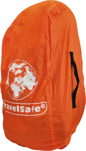 TravelSafe transport- en regenhoes backpack 55 liter oranje