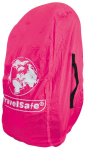 TravelSafe transport- en regenhoes backpack 55 liter polyester roze