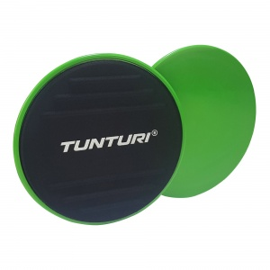 Tunturi Core Sliders abdominal muscle trainer set 18 cm green