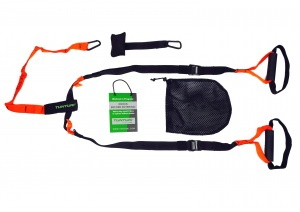 Tunturi suspension Trainer with carrying bag black/orange
