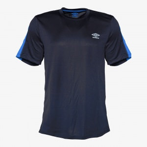 Umbro sports shirt short sleeves men's dark blue