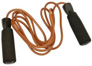 Urban Fitness skipping rope 2,7 meter leather brown/black