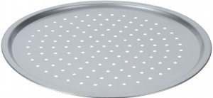 Vaggan grill plate round steel silver 33 cm
