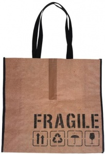 VDM carrier bag Fragile 32 litres brown/black