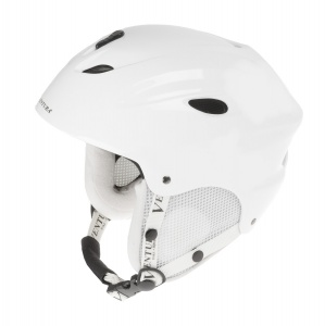 Ventura Ski helmet with flower white