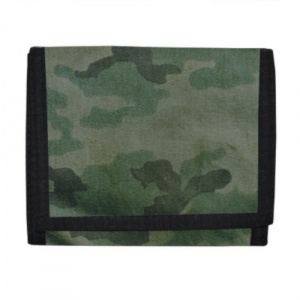 Verhaak wallet camouflage 10.5 x 12 cm polyester green