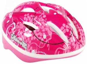 Volare Kinderfahrradhelme Deluxe Floral Pink