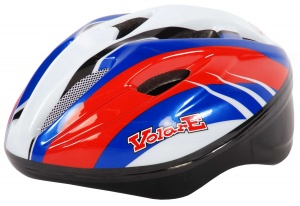 Volare Casque Deluxe rouge junior / blanc / bleu
