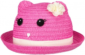 Waimea Junior Fiësta straw hat girls pink