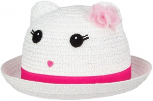 Waimea Junior Fiësta straw hat girls white / pink