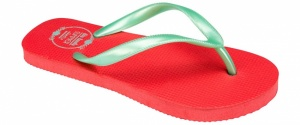 Waimea Teenslippers junior print fuchsia groen