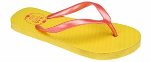 Waimea Teenslippers junior print geel roze