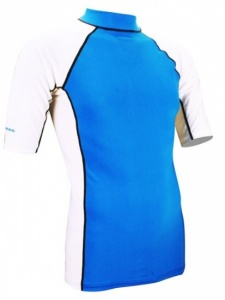 Waimea UV Shirt Heren Wit Blauw