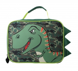 William Lamb lunchbag Dinosaurier Jungen grün 25 x 18,5 x 10 cm