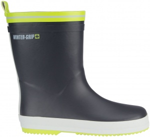 Winter-Grip Snowboots Jr Welly antraciet/groen