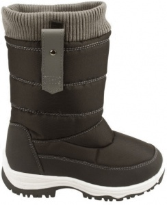 Winter-Grip snowboots Zip-Up junior zwart