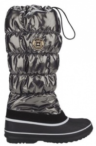 Winter-Grip Snowboots Hoog Dames Zwart/Antraciet