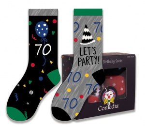 Witbaard gift socks 70 years polycotton green/black 2-piece