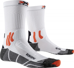 X-Socks laufsocken Run EpicPolyamid weiss/orange
