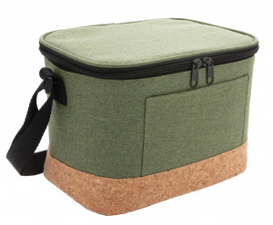 XD Collection refrigerated bag 6 litres polyester/cork green/naturel