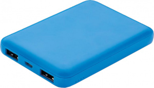 XD Collection powerbank 5000 mAh 8,8 x 6,2 cm ABS blauw