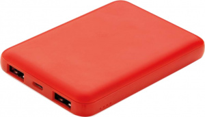 XD Collection powerbank 5000 mAh 8,8 x 6,2 cm ABS rood