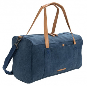 XD Collection travel/weekend bag 27L 46 cm canvas blue/brown