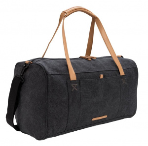 XD Collection travel/weekend bag 27L 46 cm canvas black/brown