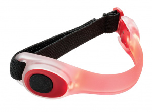XD Collection safety bracelet led 22.2 x 5.4 cm TPU red