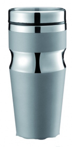 XD Design thermos flask 0Contour.35 liter stainless steel grey