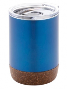 XD Design thermosbeker Cork 0,18 liter RVS blauw