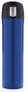 XD Design thermos flask 0.5 litre 25 cm stainless steel/polypropylene blue