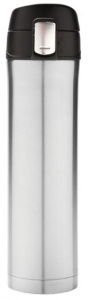 XD Design thermos flask 0.5 litre 25 cm stainless steel/polypropylene silver