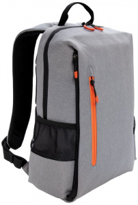XD Xclusive laptop backpack USB 15.6 inch. polyester grey