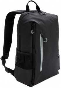 XD Xclusive laptop backpack USB 15.6 inch polyester black