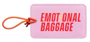 Yes Studio luggage label Emotional Baggage 12,7 x 8 cm PU pink