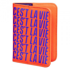 Yes Studio couverture du passeport 15 x 10,5 cm PU orange/violet