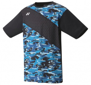Yonex tennis shirt Tournmen's polyester black/blue