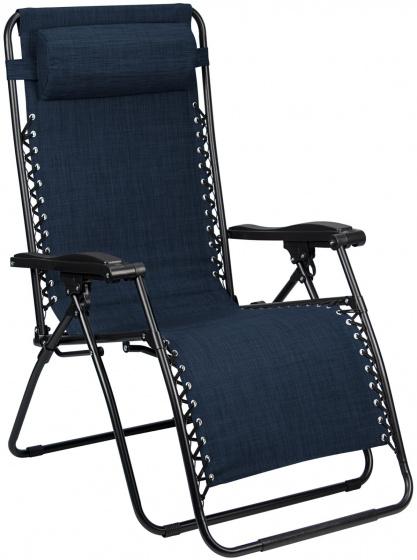 Abbey Camp campingstoel Chaise Longue IV 90 x 65 x 112 cm marineblauw