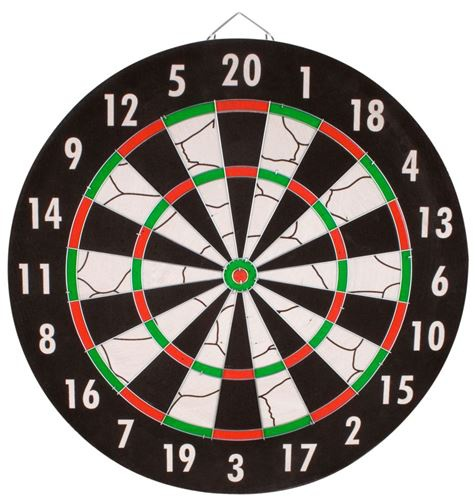 Abbey Darts Dartbord Flock 18 Inch + Pijlen