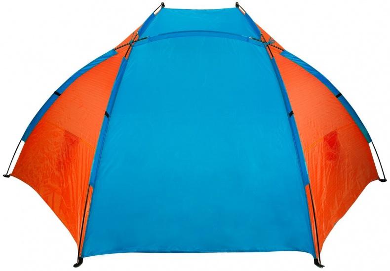 Abbey Strandtent 270 x 120 x 120 cm blauw/oranje
