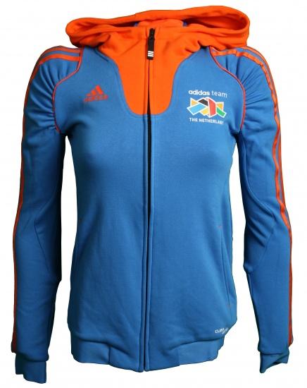 Adidas Hoodie Team Nederland dames blauw-oranje maat XXS