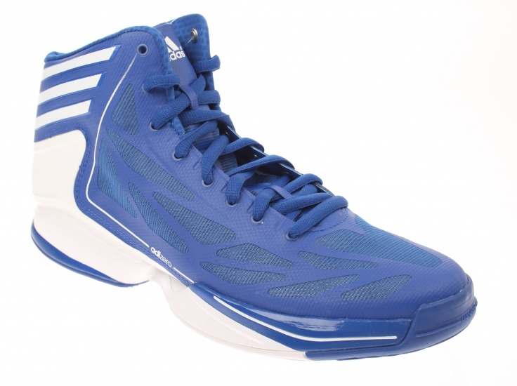 AS SMU ADIZERO CRAZY LIGHT HEREN BASKETBALSCHOEN BLAUW WIT MAAT 48 2-3