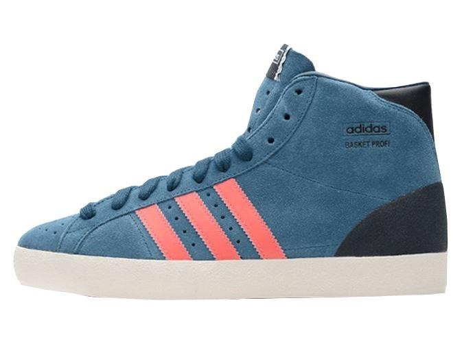 Adidas Basket Profi Sneakers Heren Blauw Suede Maat 38