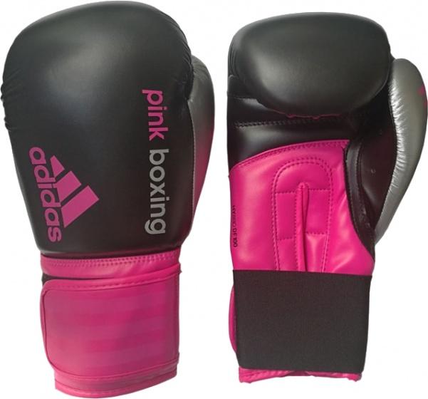 adidas bokshandschoenen Dynamic Fit dames zwart-roze 12 oz