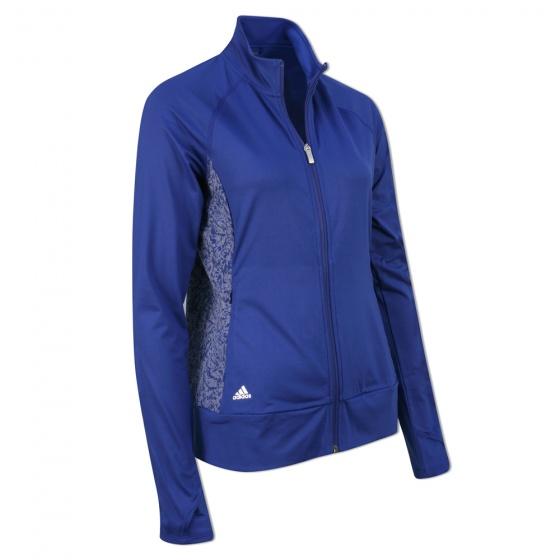 adidas dames golf vest blauw maat S