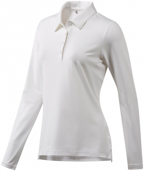 adidas golfpolo Ultimate LS P dames wit maat XS