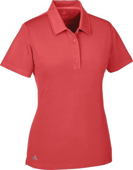 adidas golfpolo Ultimate SS P dames rood maat S