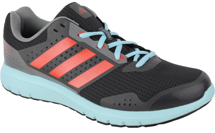 adidas Hardloopschoenen Duramo 7 heren grijs-lichtblauw maat 45 1-3